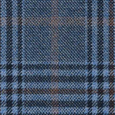 slate blue/rust glen check