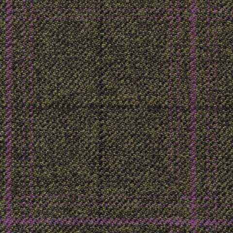 oilive/brown mix purple check