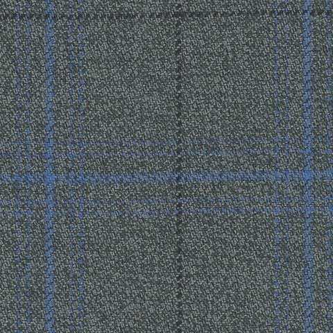 Grey/Blue Check